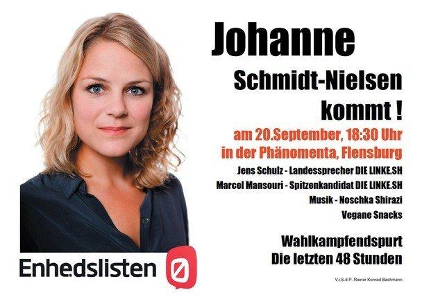 Johanne Schmidt-Nielsen kommt nach Flensburg! Am 20. September 2013, 18:30 Uhr, in der Phänomenta in Flensburg.