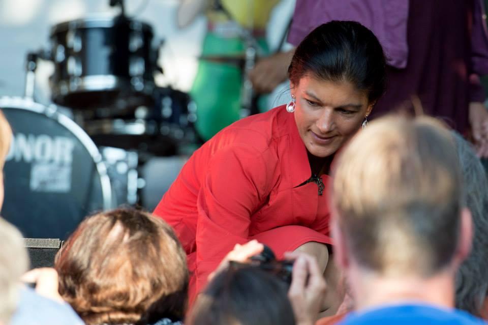 Wagenknecht beim Publikum in Kiel (Foto: Pewe R-Mediabase.eu)