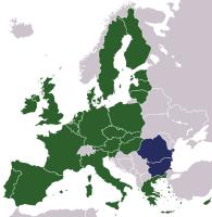 Karte der EU-Erweiterung 2007
