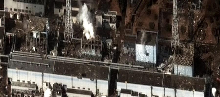 Luftaufnahme des zerstörten Atomkraftwerks Fukushima