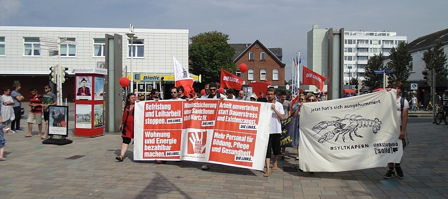 "Demonstration ""Sylt kapern"" in Westerland auf Sylt"