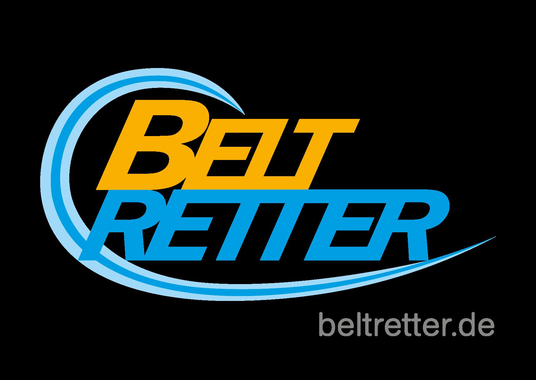 """schrift als Logo: """"Beltretter"""", dazu die URL beltretter.de"""