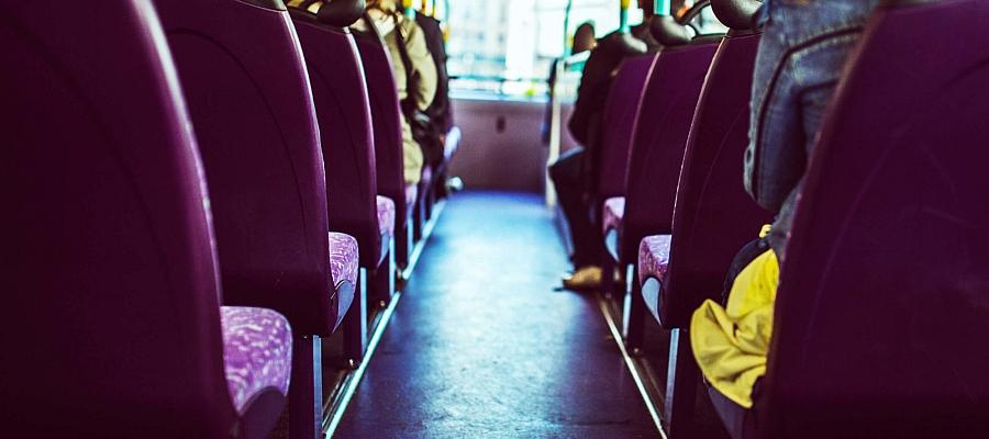 Aufnahme im Inneren eines Bus (Symbolfoto)