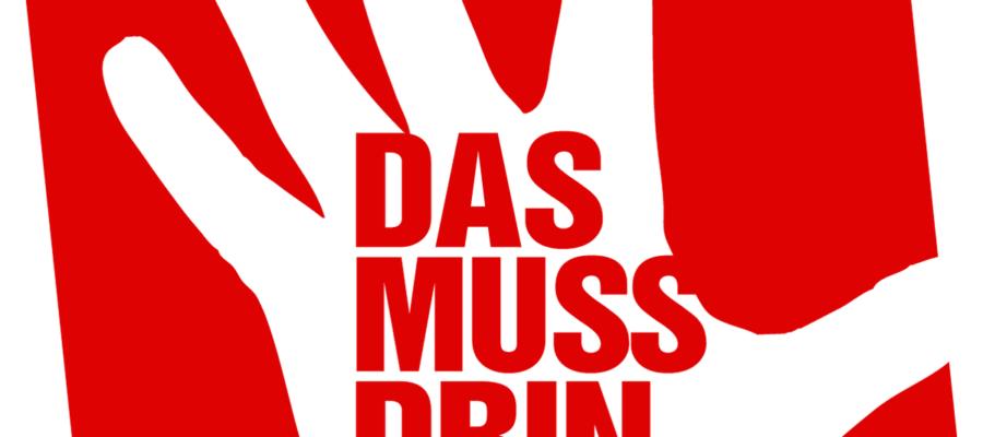 """Logo der Kampagne """"Das muss drin sein."""" der Partei DIE LINKE"""