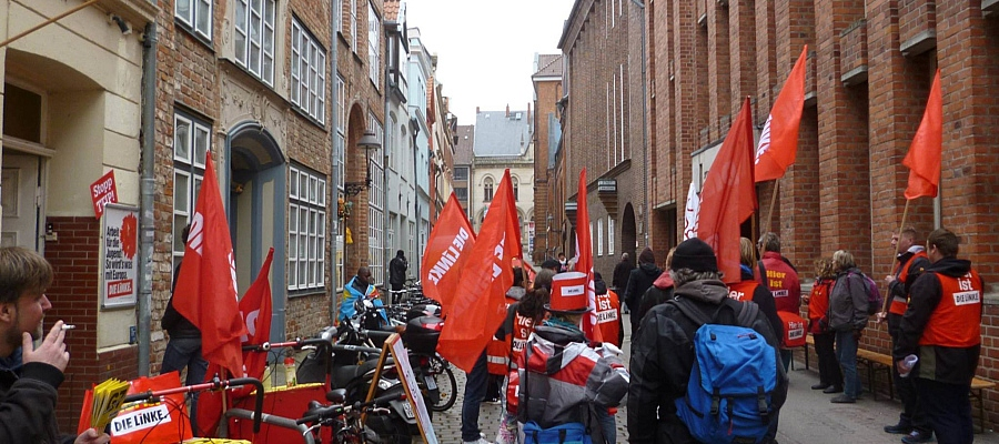 Proteste zu G7-Außenministertreffen in Lübeck