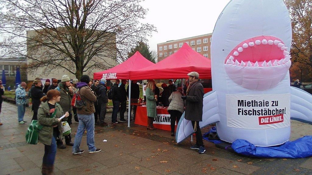 """Aktion """"Miethaie zu Fischstäbchen"""" am 15.11.2016 in Kiel"""