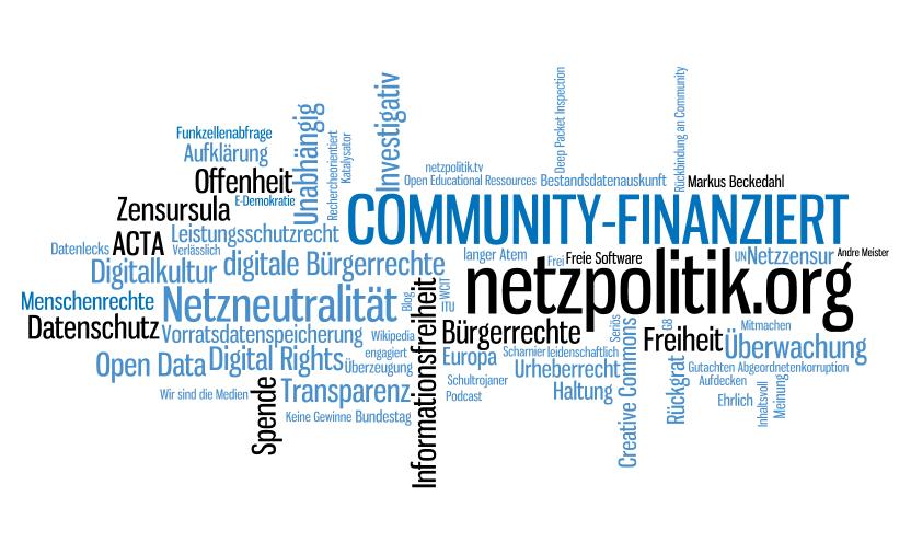 Wortwolke netzpolitik.org (CC BY-NC-SA 3.0)