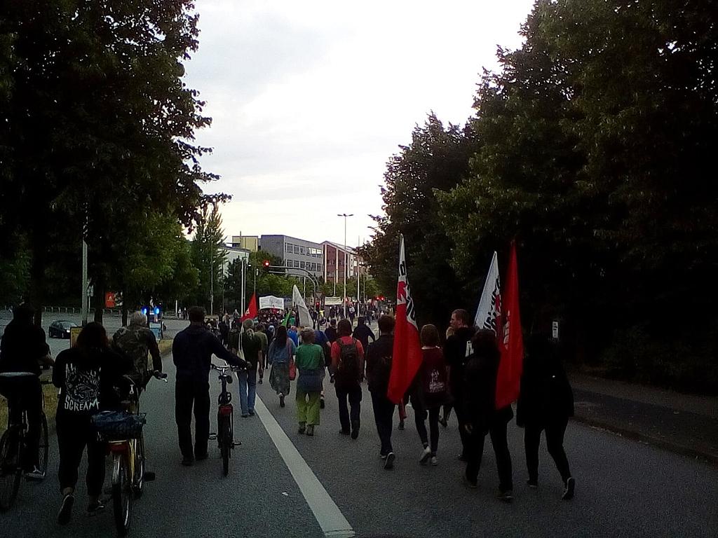 Ein Demonstrationszug in Kiel.