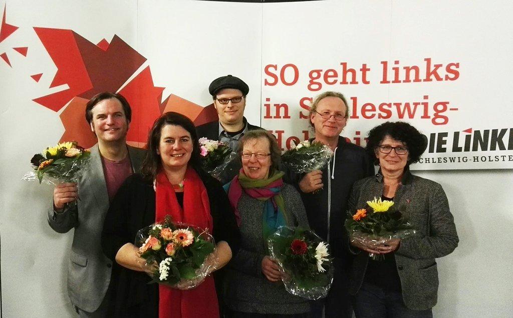 Team der LINKEN zur Landtagswahl in Schleswig-Holstein am 7. Mai 2017