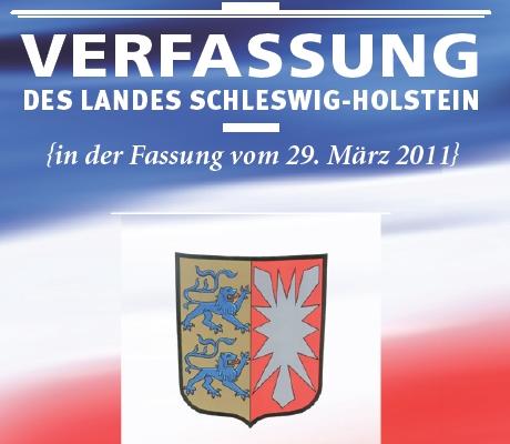Titelblatt der Verfassung des Landes Schleswig-Holstein