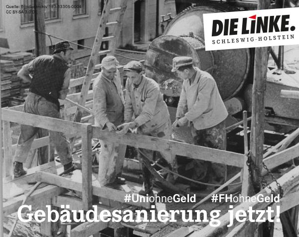 Uni ohne Geld: Gebäudesanierung jetzt! (DIE LINKE. Schleswig-Holstein)